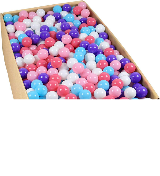 Tropical Princess Pink purple and blue ball pit balls