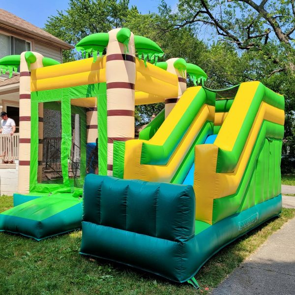 Commercial Jungle Inflatable Bounce House Combo