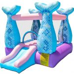 Pink & blue mermaid bounce house