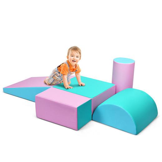 Tropical Princess Pink and Blue Soft Play Blocks