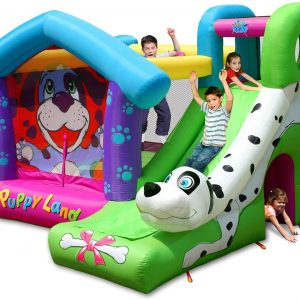 Puppy Bounce House Slide Combo