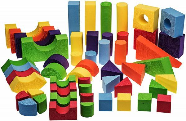 Little Ones Small Foam Building Blocks-Solid